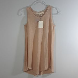INHABIT sleeveless cashmere linen top sz P
